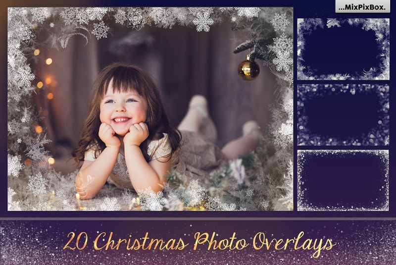 20 effective christmas photo overlays