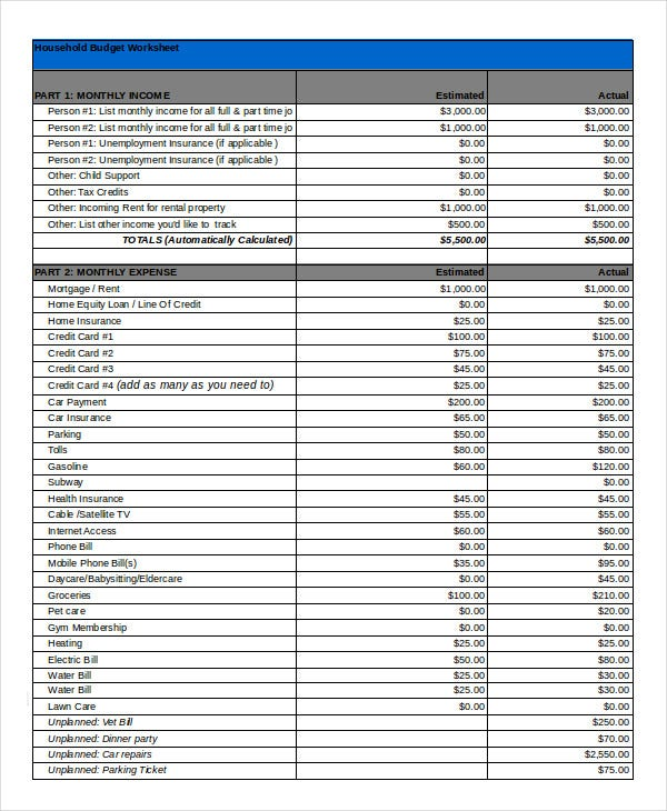 excel budget template 10 free excel documents download free