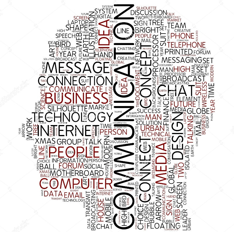 communication word art