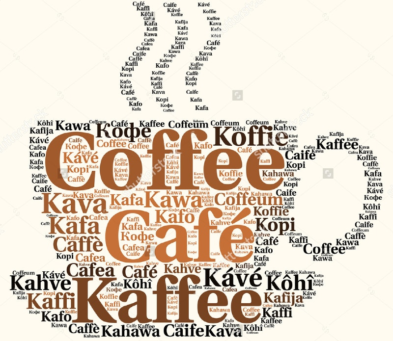 coffee cup in different languages