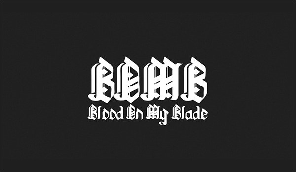 blood on my blade tattoo font1
