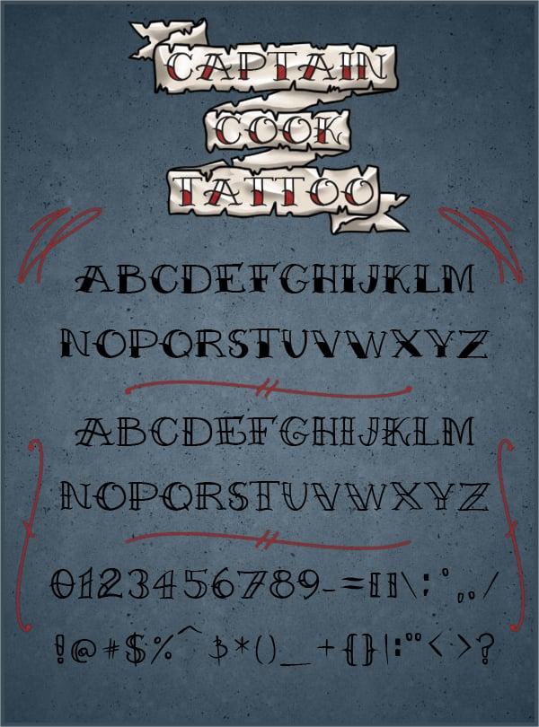 17  stylish tattoo fonts