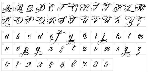 Stylish tattoo fonts free otf ttf format download