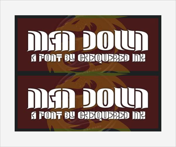 Man Down Font