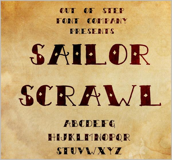 Sailor Scrawl Font
