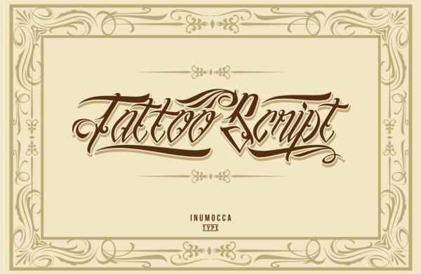 Script Tattoo Font