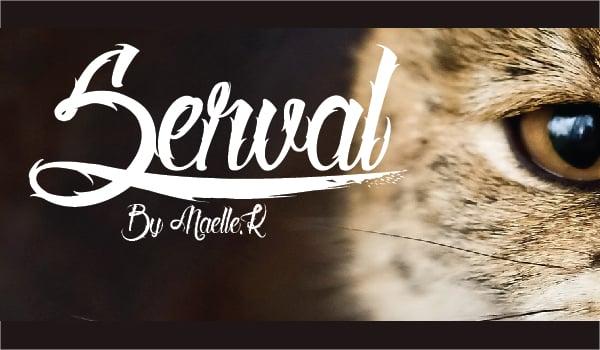 Serval Tattoo Font
