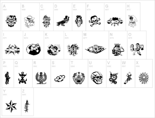 Tattoo Vieja Escuela Font