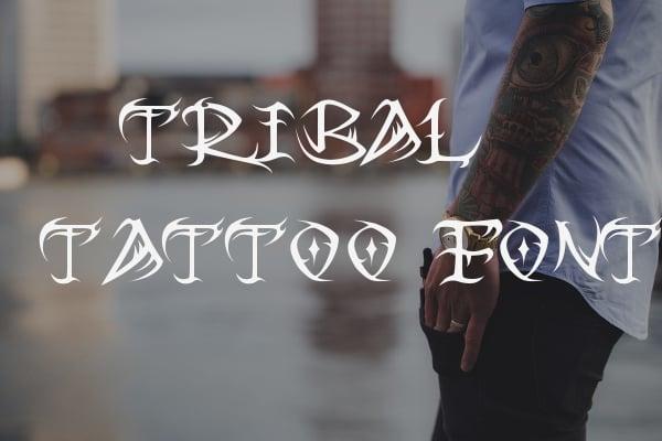 tribal tattoo font2
