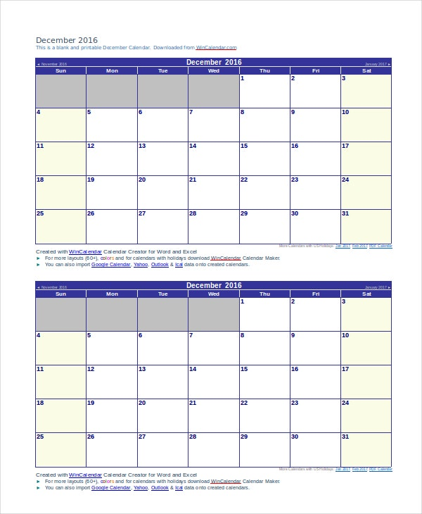 Daily Calendar - Free Pdf, Word Documents Download | Free