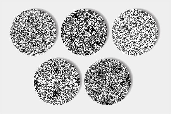 Black and White Mandalas Patterns