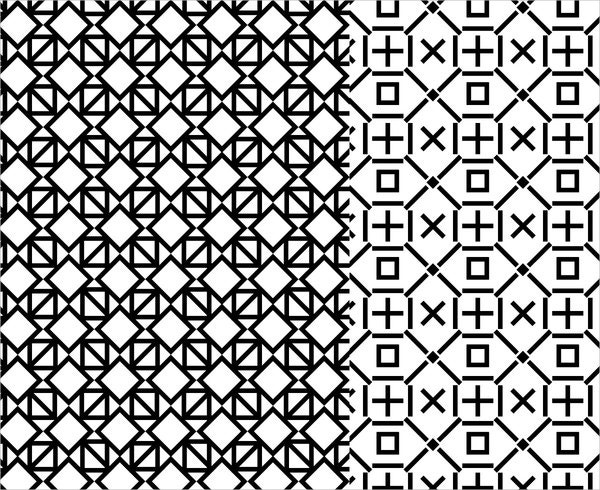Black White Geometric Pattern