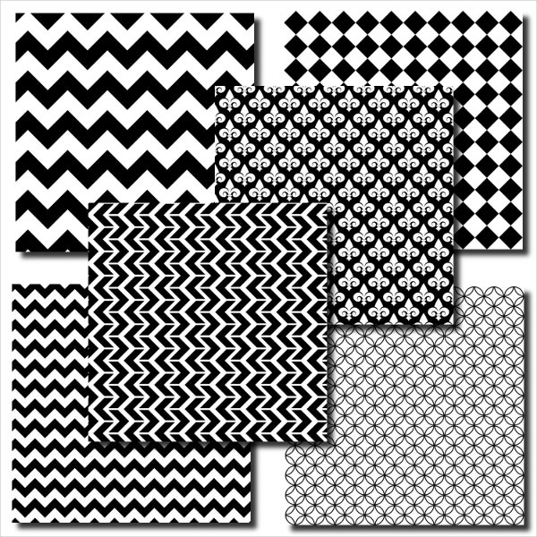 Commertial Use Black and White Pattern