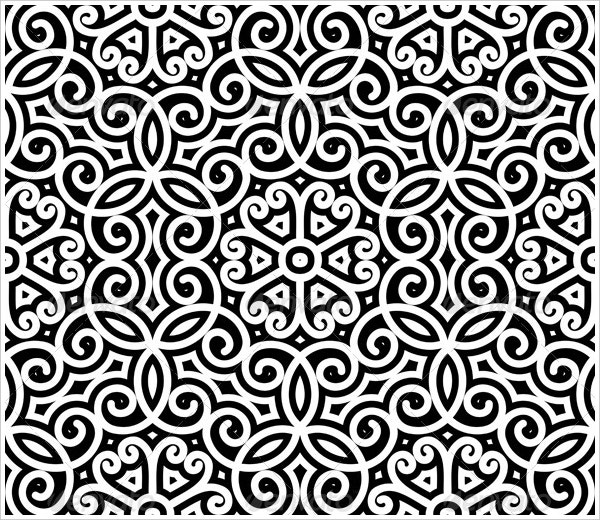Floral black and white pattern