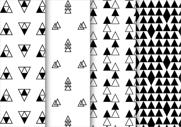 Free Black and White Geometric Pattern Vector