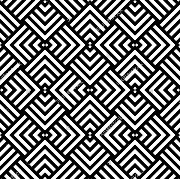 Graphic Geometric Black and White Pattern