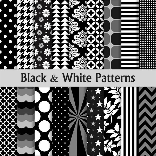 Scrapbooking Black and White Pattern