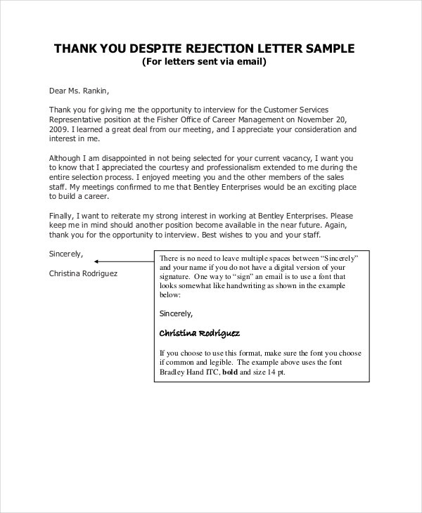 Thank You Letter After Interview - 7+ Free Word, Pdf Documents