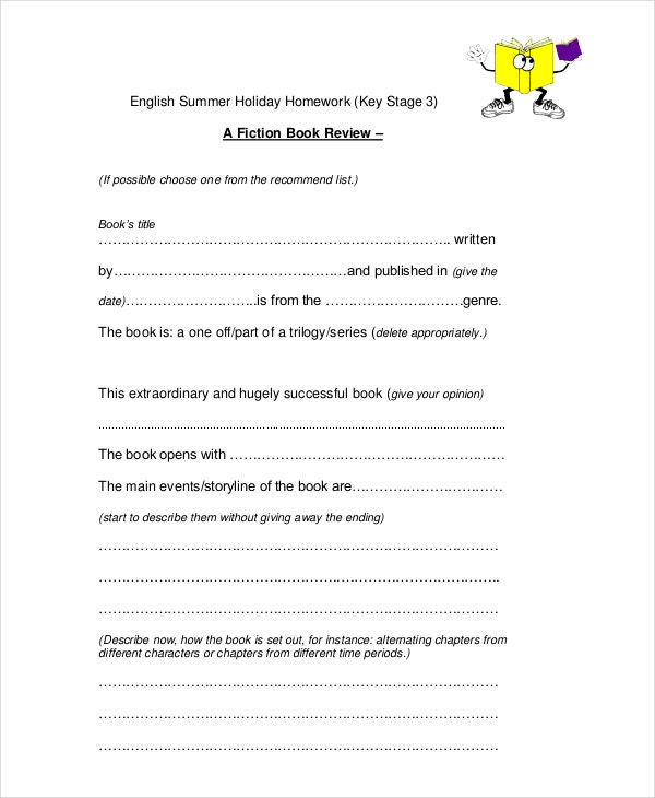A Book Review Template Ks3 | Psychology Lab Report Apa Format