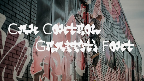 can control graffiti font
