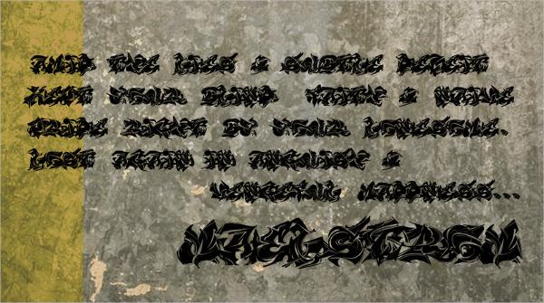 Maelstrom Graffiti Font