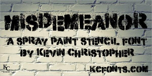 Misdemeanor Graffiti Font