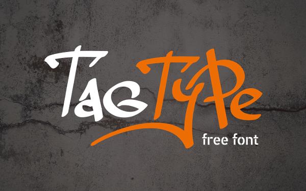 Tag Type Graffiti Font