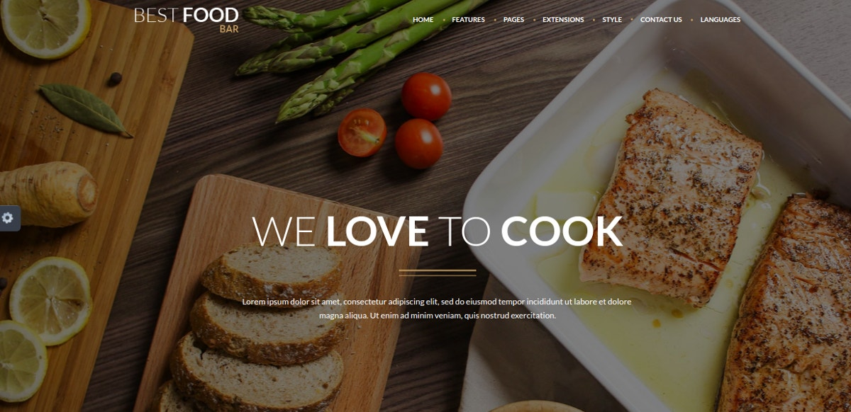Restaurant & Food Recipe Blog Joomla Template $48