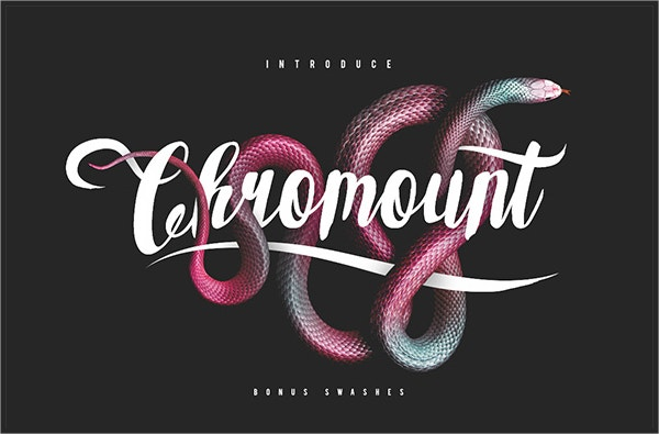 Chromount Fancy Typeface