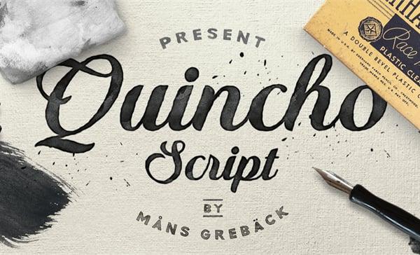 Quincho Script Personal Use Wedding Font