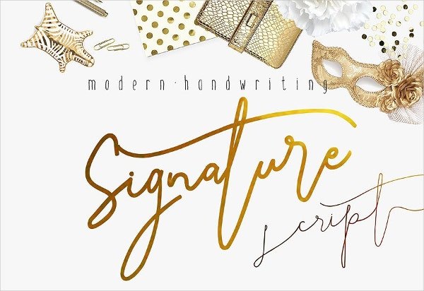 Signature Modern Handwriting Font