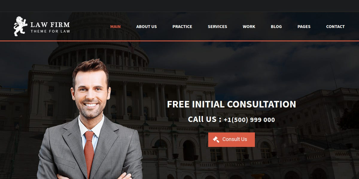 business law firm wordpress theme1