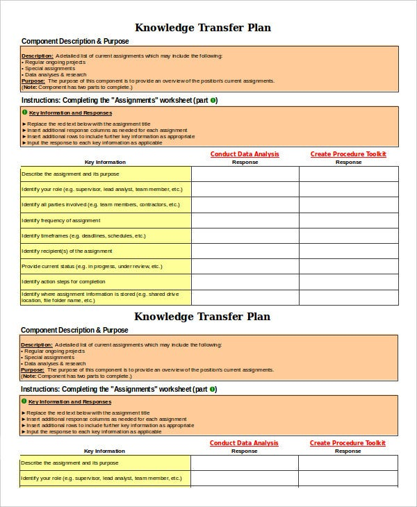 Transition Plan Template - 6+ Free Sample, Example, Format | Free ...