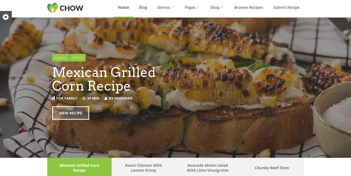 recipe-food-blog-wordpress-theme