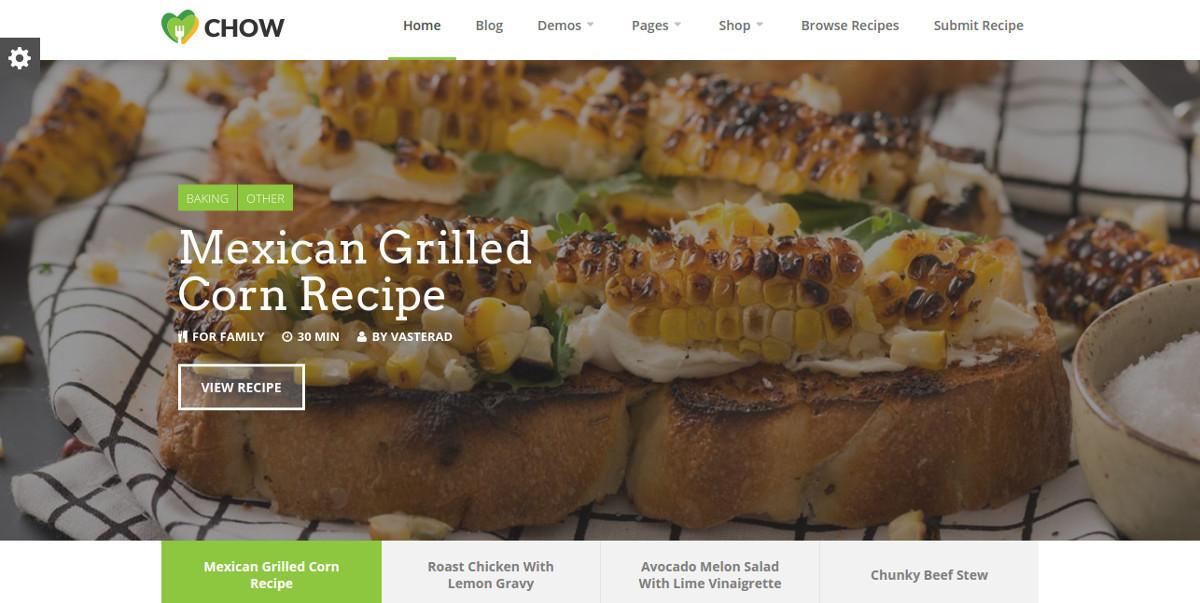 recipe food blog wordpress theme1