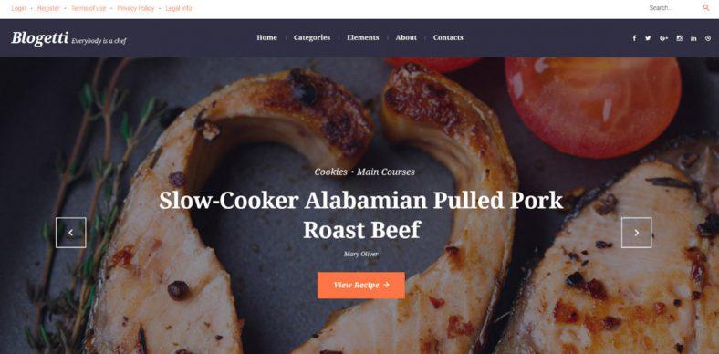 restaurant recipe blog wordpress theme 788x388