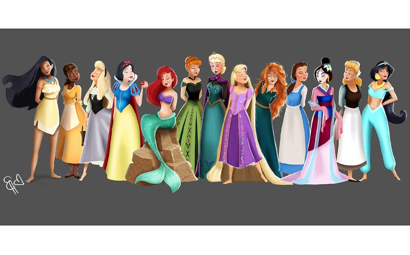 Painting of Disney Princesses Project