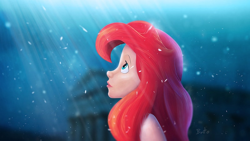 little mermaid digital painting