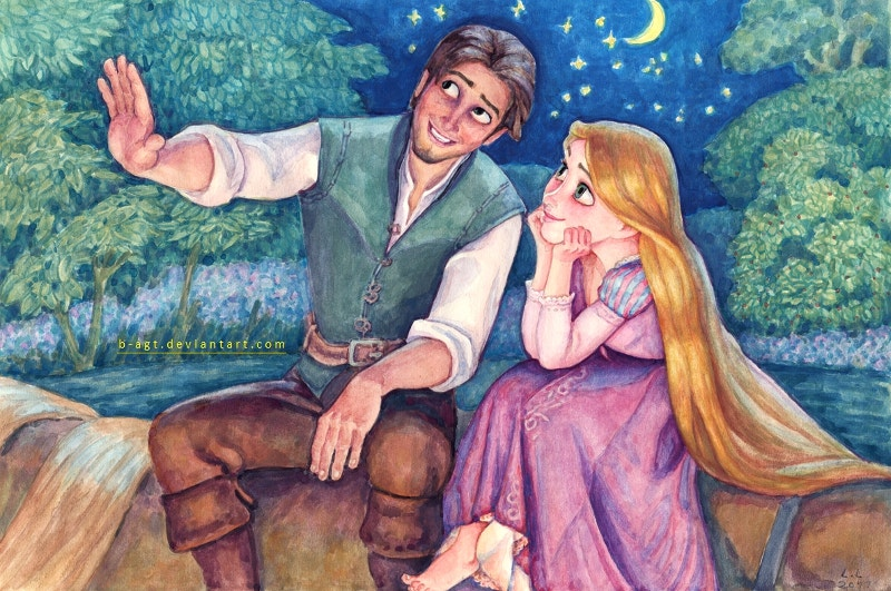 Hand Painting of Disney Pair