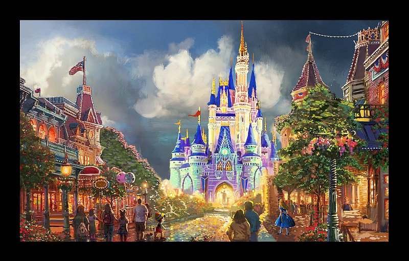 beautiful painting of disney world