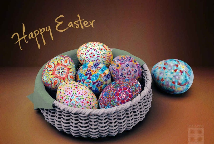 Happy Easter Celebration Eggs