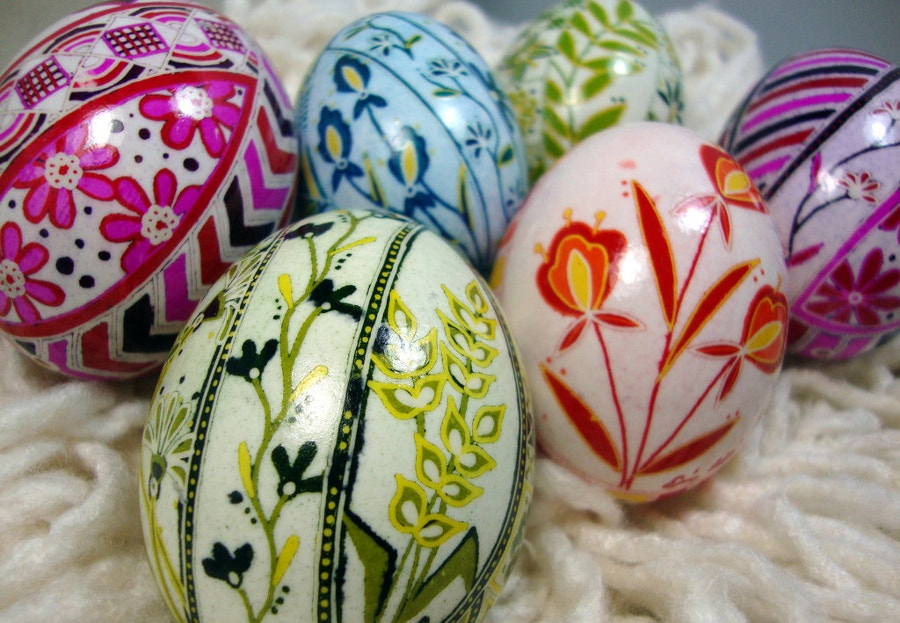 floral designs easter eggs