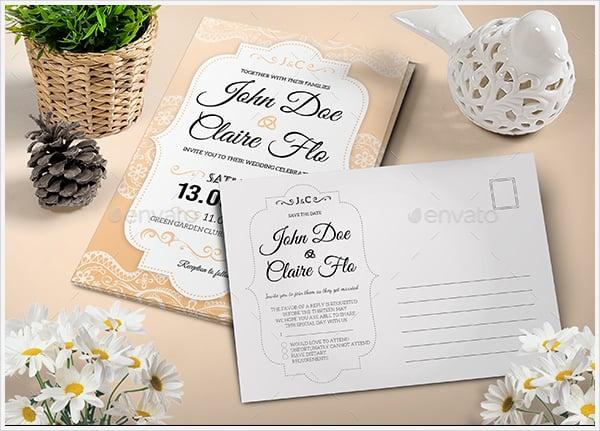 beautiful elegant wedding invitation