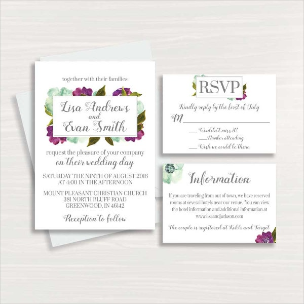 Editable Elegant Wedding Invitation