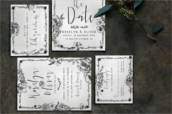 Elegant Flower Wedding Invitation