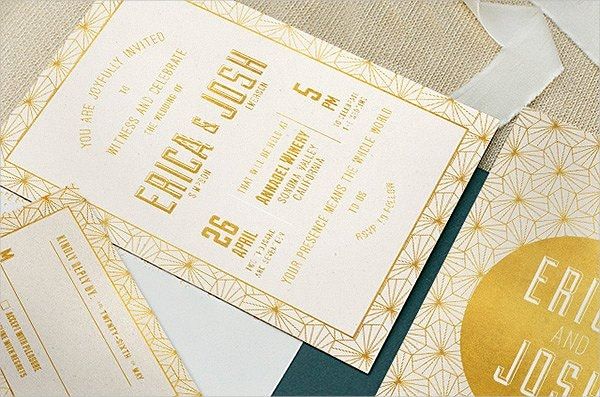 Elegant Geometric Wedding Invitation