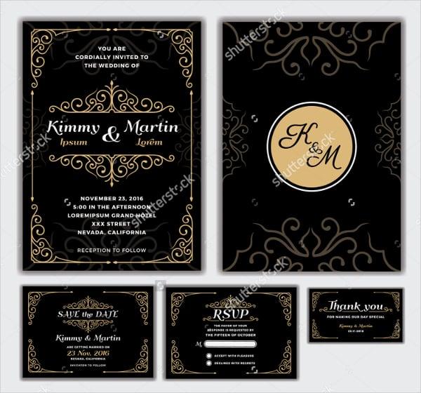 elegant wedding invitation design template