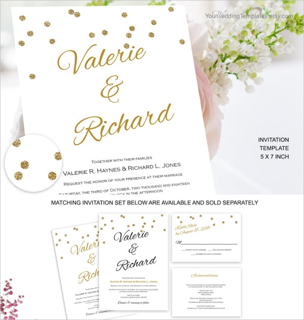 Modern Elegant Wedding Invitation Template