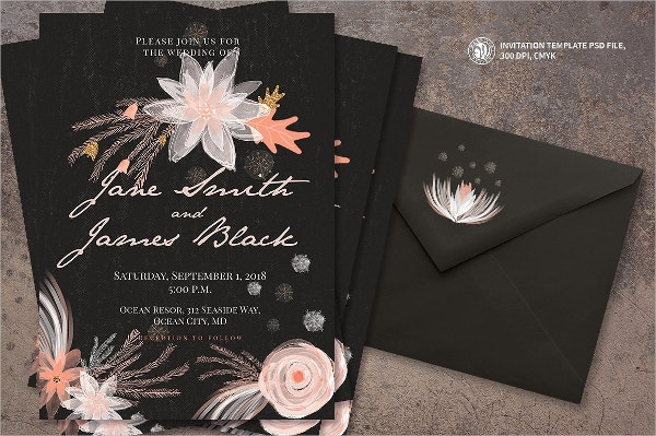 Winter Elegant Wedding Invitation