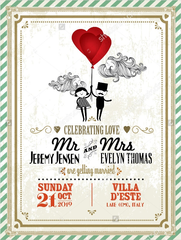 18 Vintage Wedding Invitations Free PSD Vector AI EPS Format